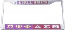 View Buying Options For The Omega Psi Phi + Delta Sigma Theta Split License Plate Frame