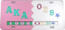 View Buying Options For The Alpha Kappa Alpha + Eastern Star Split Mirror License Plate