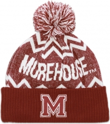 View Buying Options For The Big Boy Morehouse Maroon Tigers S10 Mens Cuff Beanie Cap with Ball
