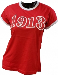 View Buying Options For The Buffalo Dallas Delta Sigma Theta 1913 Applique Ladies Ringer Tee
