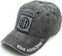 View Buying Options For The 82nd Airborne Logo Tonal Pigment Washed Cotton Mens Cap