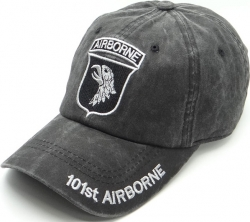 View Buying Options For The 101st Airborne Logo Tonal Pigment Washed Cotton Mens Cap