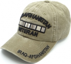 View Buying Options For The Iraq-Afghanistan Veteran Tonal Pigment Washed Cotton Mens Cap