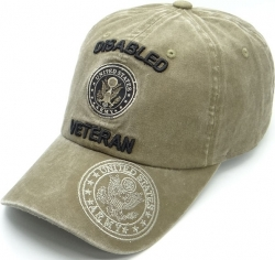 View Buying Options For The Disabled Army Veteran Tonal Pigment Washed Cotton Mens Cap