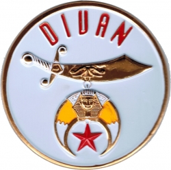 View Buying Options For The Shriner Symbol Divan Round Car Emblem