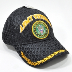 View Buying Options For The Army Veteran Gold Leaf Bill Air Mesh Mens Cap