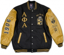 View Buying Options For The Big Boy Alpha Phi Alpha Divine 9 Mens Varsity Wool Jacket