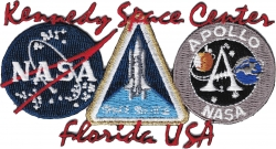 View Buying Options For The NASA Kennedy Space Center Three Logo Iron-On Patch