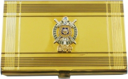 View Buying Options For The Omega Psi Phi Escutcheon Shield Business Card Holder