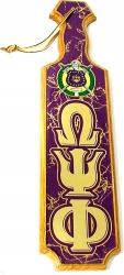 View Buying Options For The Omega Psi Phi Escutcheon Shield Domed Paddle