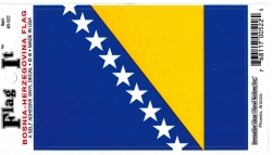 View Buying Options For The Bosnia-Herzegovina Flag Car Decal Sticker [Pre-Pack]