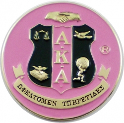 View Buying Options For The Alpha Kappa Alpha Crest Round Car Badge