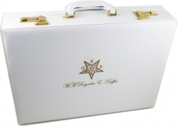 View Buying Options For The Eastern Star Personalized Attache Briefcase