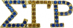 View Buying Options For The Sigma Gamma Rho 2-Color Crystal Lapel Pin