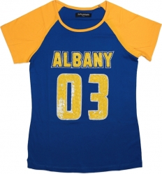 View Buying Options For The Big Boy Albany State Golden Rams Ladies Sequins Patch Tee