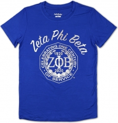 View Buying Options For The Big Boy Zeta Phi Beta Centennial Divine 9 S2 Foil Print Ladies Tee
