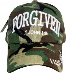 View Buying Options For The Forgiven 1 John 1:9 I Love Jesus Shadow Mens Cap