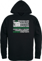 View Buying Options For The RapDom Not All Heroes Wear Capes w/Thin Green Line Graphic Mens Pullover Hoodie