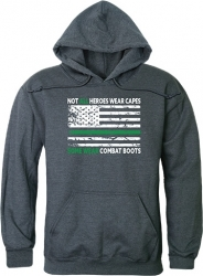 View Buying Options For The RapDom Not All Heroes Wear Capes w/Thin Green Line Graphic Mens Pullover Hoodie Hch