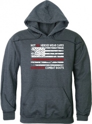 View Buying Options For The RapDom Not All Heroes Wear Capes w/Thin Red Line Graphic Mens Pullover Hoodie