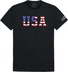 View Buying Options For The RapDom USA Flag Text 2 Tactical Graphics Mens Tee