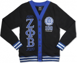 View Buying Options For The Big Boy Zeta Phi Beta Centennial Divine 9 S10 Light Weight Ladies Cardigan
