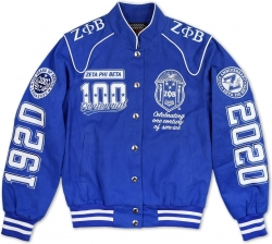 View Buying Options For The Big Boy Zeta Phi Beta Centennial Divine 9 S9 Ladies Twill Racing Jacket