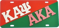 View Buying Options For The Kappa Alpha Psi + Alpha Kappa Alpha Split License Plate