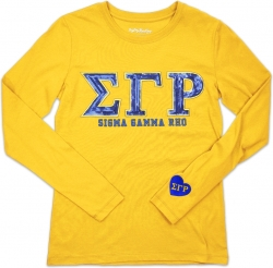View Buying Options For The Big Boy Sigma Gamma Rho Divine 9 S2 Long Sleeve Ladies Tee
