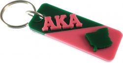 View Buying Options For The Alpha Kappa Alpha Ivy Leaf Split Symbol Keychain