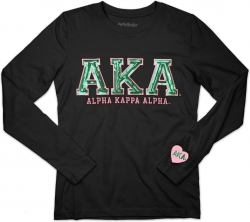 View Buying Options For The Big Boy Alpha Kappa Alpha Divine 9 S2 Long Sleeve Ladies Tee