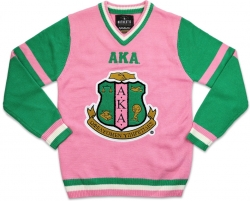 View Buying Options For The Big Boy Alpha Kappa Alpha Divine 9 S4 Ladies V-Neck Sweater