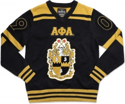 View Buying Options For The Big Boy Alpha Phi Alpha Divine 9 S4 Mens V-Neck Sweater