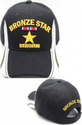 View Buying Options For The Bronze Star of Heroism Edge Design Mens Cap