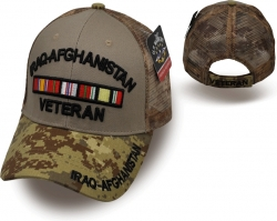 View Buying Options For The Iraq-Afghanistan Veteran Camo Meshback Mens Cap
