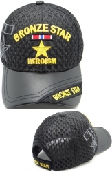 View Buying Options For The Bronze Star of Heroism Shadow Vinyl Bill Mens Air Mesh Cap