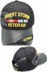 View Buying Options For The Desert Storm Veteran Shadow Vinyl Bill Mens Air Mesh Cap