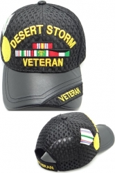 View Buying Options For The Desert Storm Veteran Medal Shadow Vinyl Bill Mens Air Mesh Cap