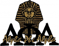 View Buying Options For The Alpha Phi Alpha Signature Sphinx Head Iron-On Patch