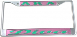 View Buying Options For The Alpha Kappa Alpha Diva License Plate Frame