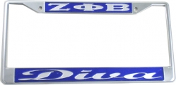 View Buying Options For The Zeta Phi Beta Diva License Plate Frame
