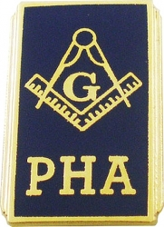 View Buying Options For The Prince Hall Mason Blue House Symbol PHA Lapel Pin