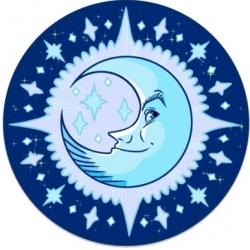 View Buying Options For The Happy Moon Color Sticker