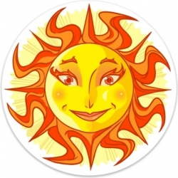 View Buying Options For The Happy Sun Color Sticker