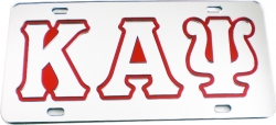 View Buying Options For The Kappa Alpha Psi Outlined Mirror License Plate