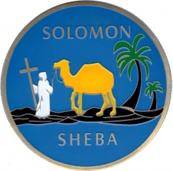 View Buying Options For The Queen of the South Solomon Sheba Etched Round Car Emblem