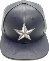 View Buying Options For The Nautical Star Vinyl Leather Snapback Mens Cap