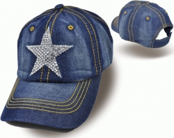 View Buying Options For The Rhinestone Star Home Ladies Cap