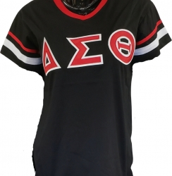 View Buying Options For The Buffalo Dallas Delta Sigma Theta Striped V-Neck Ladies Tee