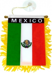 View Buying Options For The Mexico Flag Car Mini Banner [Pre-Pack]